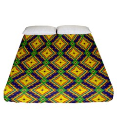 Morocco Flower Yellow Fitted Sheet (california King Size)