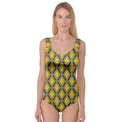 Morocco Flower Yellow Princess Tank Leotard