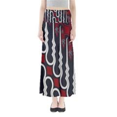 Batik Jogja Red Black Maxi Skirts