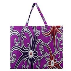 Batik Jogja Zipper Large Tote Bag