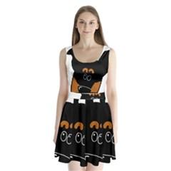 Peeping Miniature Pinscher Split Back Mini Dress