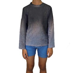 black to gray fade Kids  Long Sleeve Swimwear