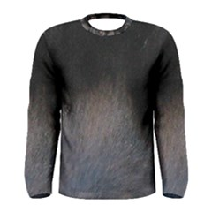 black to gray fade Men s Long Sleeve Tee
