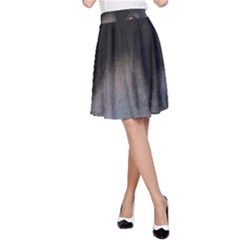 black to gray fade A-Line Skirt