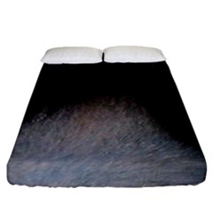 black to gray fade Fitted Sheet (California King Size)