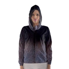 black to gray fade Hooded Wind Breaker (Women)