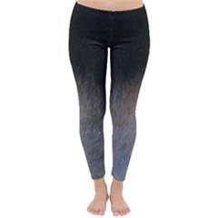 black to gray fade Classic Winter Leggings