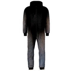 black to gray fade Hooded Jumpsuit (Men)