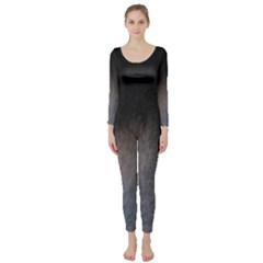 black to gray fade Long Sleeve Catsuit