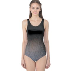 black to gray fade One Piece Swimsuit