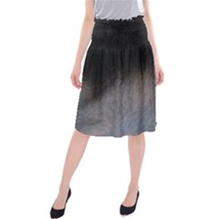 black to gray fade Midi Beach Skirt
