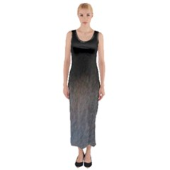 black to gray fade Fitted Maxi Dress