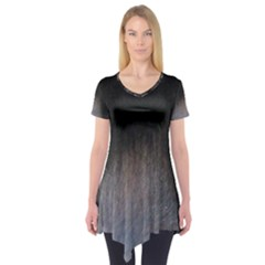 black to gray fade Short Sleeve Tunic