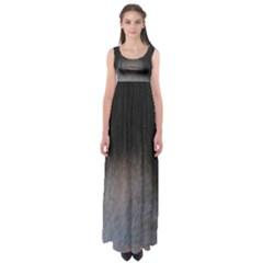 black to gray fade Empire Waist Maxi Dress