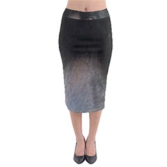 black to gray fade Midi Pencil Skirt