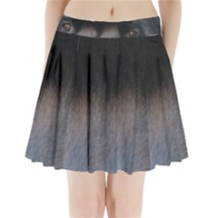 black to gray fade Pleated Mini Skirt