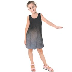 black to gray fade Kids  Sleeveless Dress