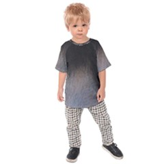 black to gray fade Kids  Raglan Tee