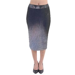 black to gray fade Velvet Midi Pencil Skirt