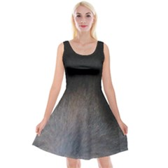 black to gray fade Reversible Velvet Sleeveless Dress