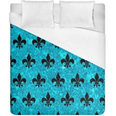 Royal1 Black Marble & Turquoise Marble Duvet Cover (california King Size)
