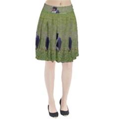 Australian Shepherd Black Tri In Field Pleated Skirt