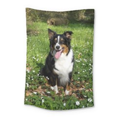 Australian Shepherd Black Tri Sitting 2 Small Tapestry