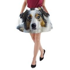 Australian Shepherd Blue Merle 3 A-Line Pocket Skirt