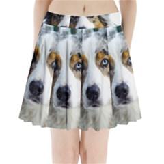 Australian Shepherd Blue Merle 3 Pleated Mini Skirt