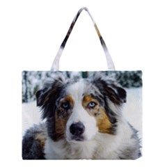 Australian Shepherd Blue Merle 3 Medium Tote Bag
