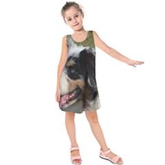 Australian Shepherd Blue Merle Kids  Sleeveless Dress