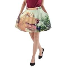 Australian Shepherd Red Merle A-Line Pocket Skirt