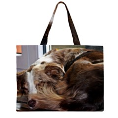 Australian Shepherd Red Merle Sleeping 2 Large Tote Bag
