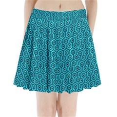 HXG1 BK-TQ MARBLE (R) Pleated Mini Skirt