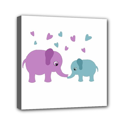 Elephant love Mini Canvas 6  x 6