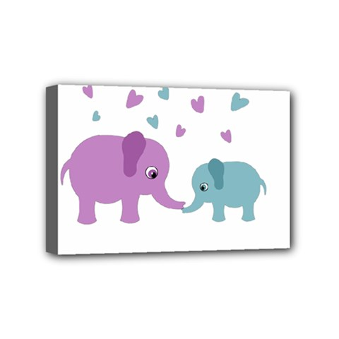 Elephant love Mini Canvas 6  x 4