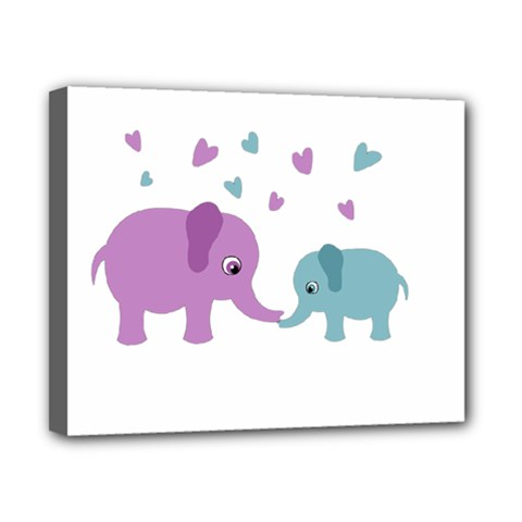 Elephant love Canvas 10  x 8