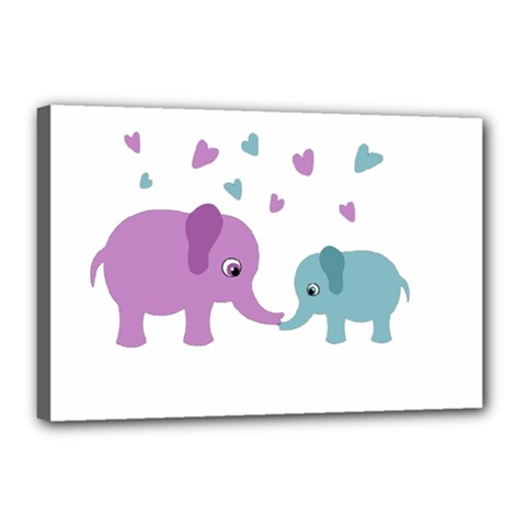 Elephant love Canvas 18  x 12