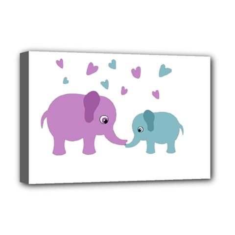 Elephant love Deluxe Canvas 18  x 12