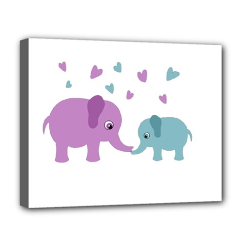 Elephant love Deluxe Canvas 20  x 16