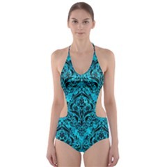 DMS1 BK-TQ MARBLE (R) Cut-Out One Piece Swimsuit
