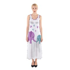 Elephant love Sleeveless Maxi Dress