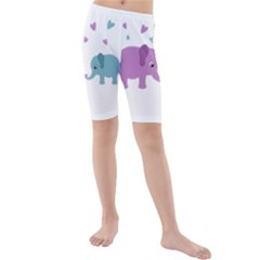 Elephant love Kids  Mid Length Swim Shorts