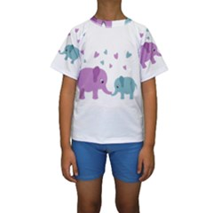 Elephant love Kids  Short Sleeve Swimwear