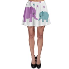 Elephant love Skater Skirt
