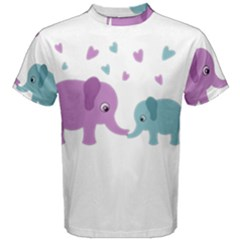 Elephant love Men s Cotton Tee
