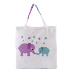 Elephant love Grocery Tote Bag