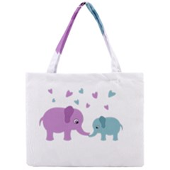 Elephant love Mini Tote Bag