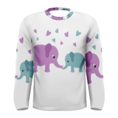 Elephant love Men s Long Sleeve Tee