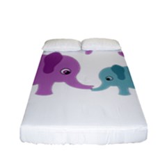 Elephant love Fitted Sheet (Full/ Double Size)